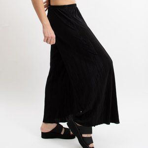 Vintage 90s Accordion Pleated Palazzo Pants- Black